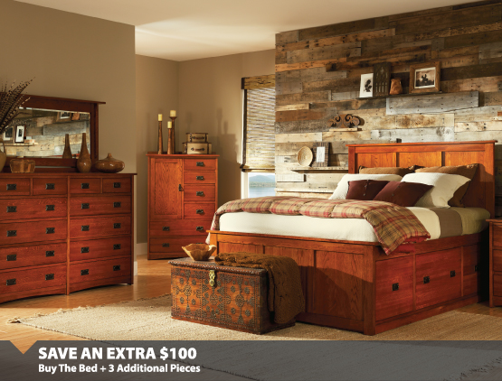 Save an Extra $100 on Bedroom