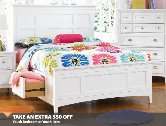 $50 Off Youth Bedroom