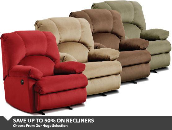 Up To 50% Off Recliners