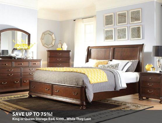 King Or Queen Storage Bed