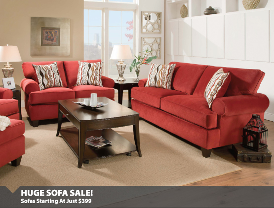 Huge Sofa Sale Starting at $399