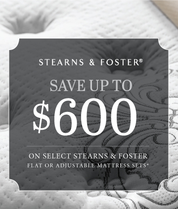 $600 OFF STEARNS & FOSTER