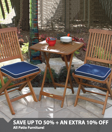 Save up to 50% on all patio