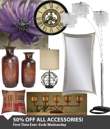 Save 50% On All Accessories