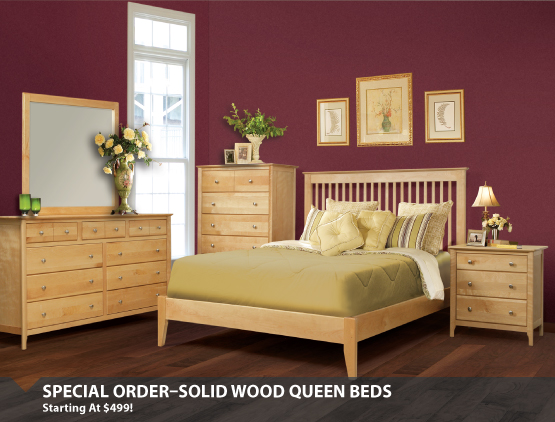 Special Order Bedroom Starting At $499
