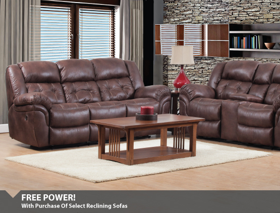 Free Power With Reclining Sofas