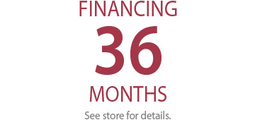 36 MONTH FINANCING