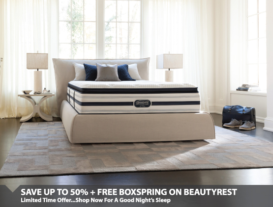 Save up to 50% + Free Boxspring
